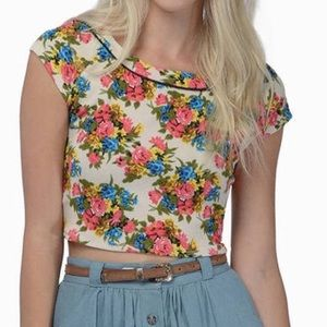 Retro Floral Crop Top